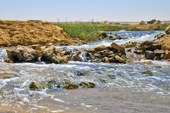 Life in the Desert (TARIQ-M) Tags: longexposure texture water stone landscape waterfall s