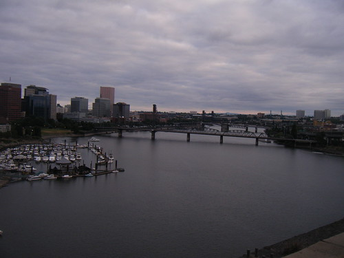 from the top of the marquam bridge