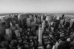 NYC Skyline 1 (Warm Bread) Tags: city nyc sky urban bw white newyork black building skyline landscape nikon cityscape manhattan horizon wide sigma wideangle observatory empirestate 1020 observationdeck 2011 warmbread d5100 nycskyline1