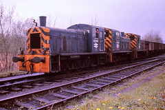 03144/03152/03151 Cwm Mawr 4/5/1978 (Glevumblues) Tags: southwales diesel trains 1970s railways class03 03144 03152 cwmmawr 03151