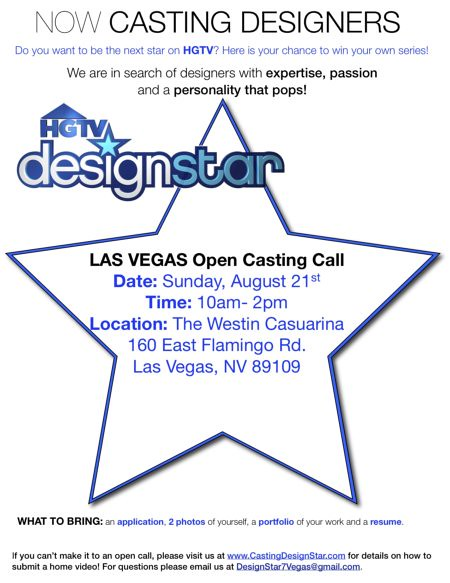 HGTV's Design Star 7 Vegas Flyer