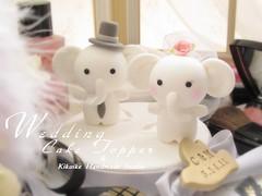 Wedding Cake Topper-love elephant (charles fukuyama) Tags: elephant couple handmade anniversary custom justmarried brideandgroom sculpted whiteelephant cakedecoration weddingcaketopper claydoll fullveil loveelephant