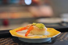 Sushi - 4 (flickrfanmk2007) Tags: food japan sushi 50mm restaurant nikon dof bokeh shrimp okinawa f18 d300