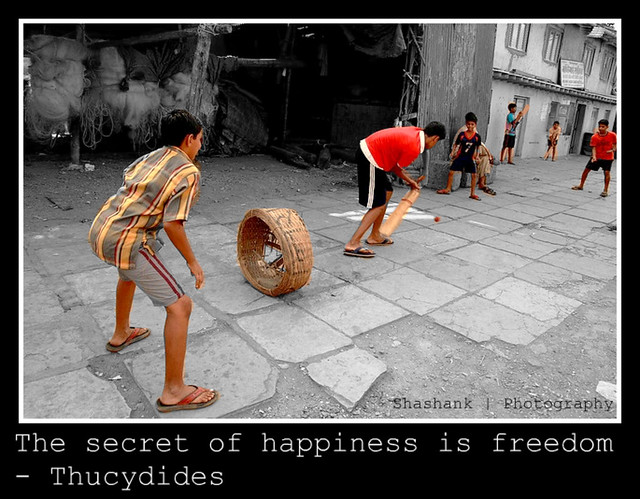 The secret of happiness is freedom Shashank Aggarwal X AIS Gur 43