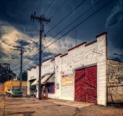 tucker tire (bugeyed_G) Tags: auto arizona ford shop architecture facade truck vintage nikon repair americana nik 24mm d200 hdr tiltshift pce photomatix winkelman vertorama dragondaggerphoto magicunicornverybest magicunicornmasterpiece bugeyedg tuckertire