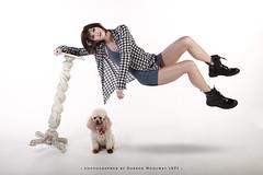 Laura Levitating (Darren Woolway ARPS) Tags: girl floating levitation poodle blackboots