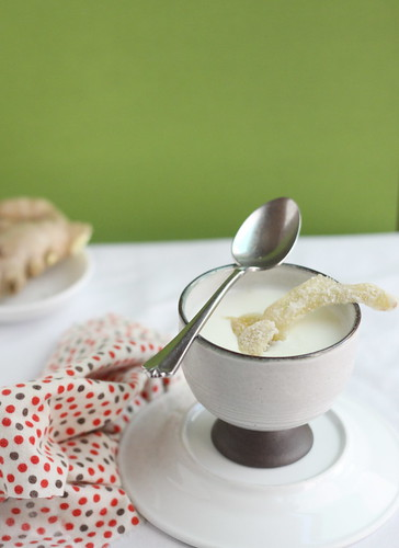 Ginger Chilled Milk Pudding