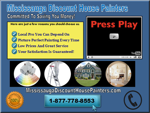 Mississauga Discount House Painters 1-877-778-8553 Mississauga House Painting