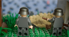 D-Day, 6 June 1944, Normandy, France (Legoorci) Tags: world sea 2 france water boat sand war lego wwii bunker weapon normandie sack normandy dday defense rommel zweiter wehrmacht weltkrieg verteidigung stahlhelm 6june1944 legoorci