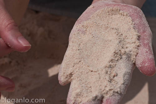 Beach sand in Bermuda