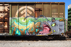 RYOE (TRUE 2 DEATH) Tags: railroad fish streetart art train graffiti graf trains railcar spraypaint boxcar railways railfan freight aub villains cbs freighttrain rollingstock lgf benching freighttraingraffiti ryoe grdigitaliii