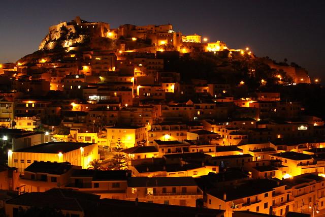 Fairytale-like Castelsardo at night...