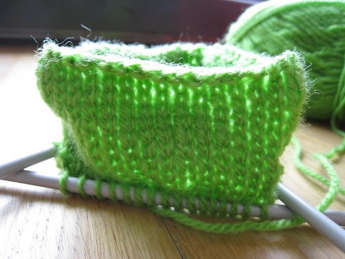 Knitted jar cosy