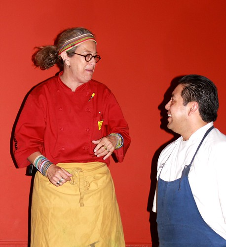 Susan Feniger and Sous Chef