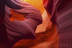 Lady in the Wind (Willie Huang Photo) Tags: arizona rock landscape artistic scenic canyon page antelope navajo slot lowerantelopecanyon