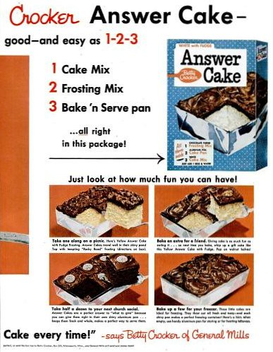 Answer Cake 2 Life Sept 17 1956