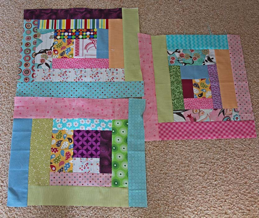 "Blocks received from Kelly for ""cheeky quilt"""
