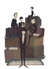 The Horrors (Miguel is Mikko) Tags: music rock illustration garage band synth indie editorial skying postpunk mikko horrors shoegaze thehorrors farisbadwan miguelecheverria