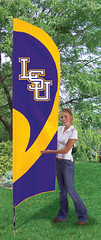 LSU Tigers Tall Feather Flag