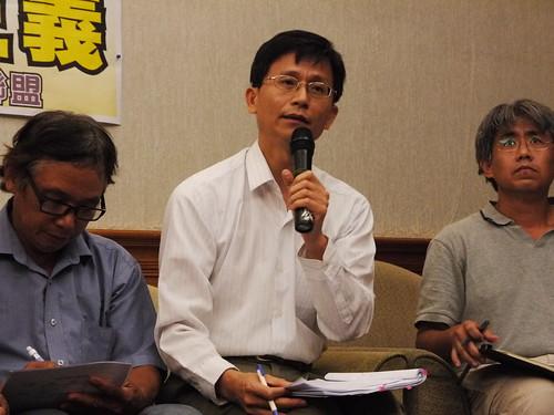 律師詹順貴認為台知園區土地徵收地方民代居然表示已有兩黨共識,一定徵收是惡質文化,表示將抗爭到底。