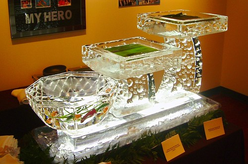 3 Level Seafood Display ice sculpture