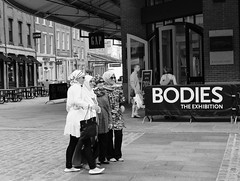 BODIES: The Exhibition (Fernando Cabalo) Tags: street nyc newyorkcity portrait people blackandwhite bw newyork black blancoynegro blanco girl portraits buildings noir mood photographer chica retrato manhattan candid negro streetphotography bn avenue fotgrafo miradafavorita