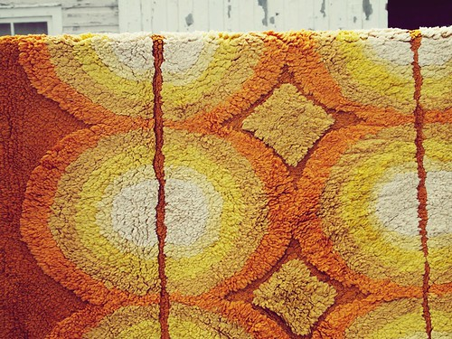 funky vintage carpet