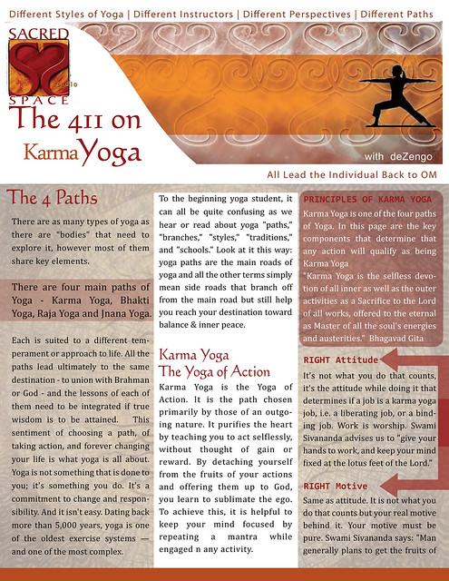 OM Times-SACREDspace : Sept. 2011 : Karma Yoga (pg1)