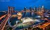 Uniquely Singapore (DanielKHC) Tags: bridge blue light digital marina bay nikon singapore long exposure cityscape dusk hour cbd helix ritzcarlton dri mbs blending d300 danielcheong danielkhc tokina1116mmf28