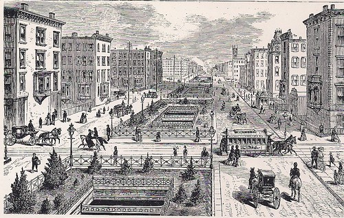 1880's Fourth Avenue, NYC, NY