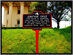 Rocherster NY ~ Jonathan Child House (Onasill ~ Bill Badzo - - 64 Million Views - Thank ) Tags: new york homes house ny building apple architecture plaque greek us imac child state mayor jonathan columns structures style historic rochester monroe western registry attraction portico apps revival ipad nrhp onasill