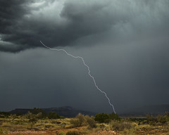 """2011 Monsoons - Nothing says """"I love you"""" like a bolt of lightning (Dave Arnold Photo) Tags: cloud storm milan newmexico rain weather photo image picture pic images photograph monsoon rainstorm thunderstorm lightning nm lightening thunder rainfall grants badweather severeweather rayos desertstorm electricstorm virga davearnold newmex cibolacounty monsoonal nmex lobocanyon davearnoldphotocom"""