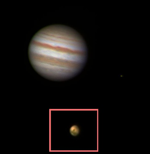 Jupiter Io  & Mars 290811 by Mick Hyde