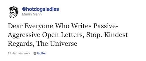 Twitter open letter