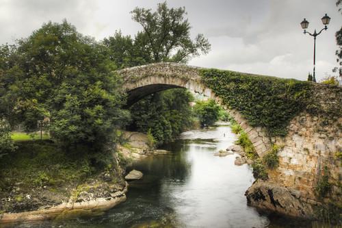 Liérganes bridge. Cantabria. Spain. Puente de Liérganes