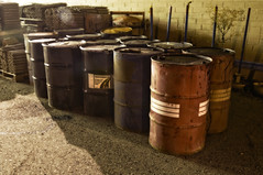 Barrels (Curtis Gregory Perry) Tags: night noche nikon long exposure nacht barrels nevada nat noite hawthorne nuit notte nos natt malam noc ntt   nag gece noapte  d300   no m   nakts  oche   gauean