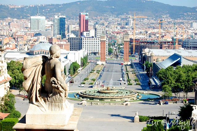 Vista desde el Museo de Arte de Catalunya