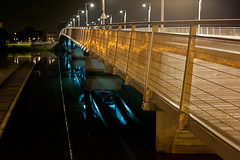 Like a bridge over troubled water... (Olivier_G44) Tags: pont nuit nantes leopold sedar senghor