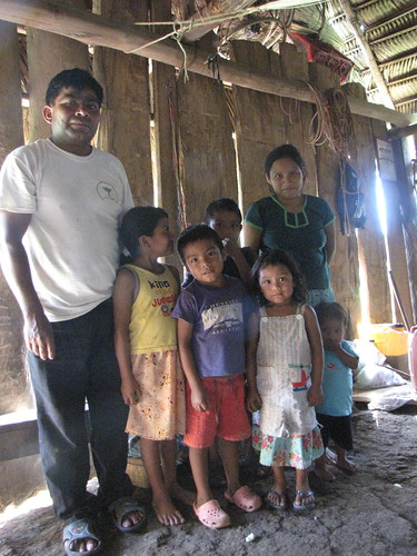 Caal family in Conejo, Belize