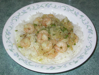Shrimp with Onion