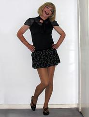 rara skirt, silk top (gillian .) Tags: lace feminine silk skirt blouse transgender mature tranny blonde transvestite heels miniskirt crossdresser pantihose