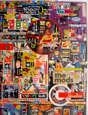 Christian Montone THE MODS Collage 24 x 36 inches 2011 Detail D (Christian Montone) Tags: art collage vintage toys blog artwork mod kitsch ephemera puzzle 1940s 1950s montage americana 1960s clippings montone mods vintageads gamepieces cames vintagegames paperitems christianmontone artskooldamage