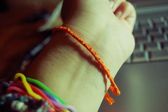 3/365 (ali☾ia) Tags: orange sign self friendship skin cut bracelet cutting ribbon wrist scar harm cuts scars scarring