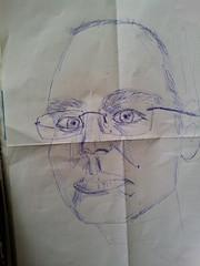 blue me (pepemczolz) Tags: blue portrait art me face pen glasses sketch head drawing prototype practice flickroid
