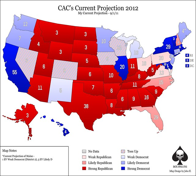 AoS Projection for 2012 Presidential Election- September 2011 ed