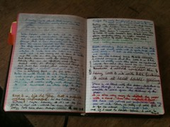 Allan's journal with writing samples