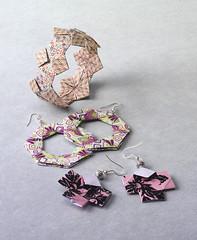 Origami création - Didier Boursin - Bracelet & boucles d'oreilles