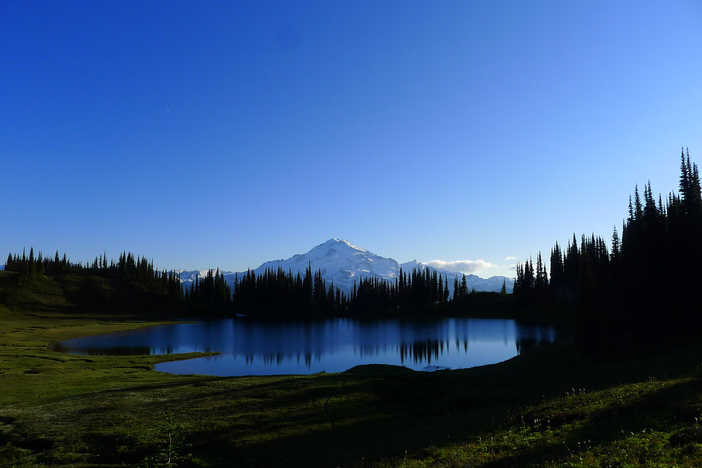 Glacier Peak over Image Lake