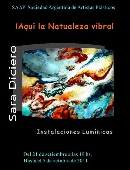 Aquí la naturaleza vibra - Muestra plástica de Sara Diciero