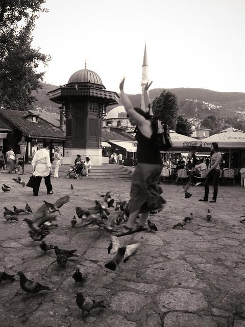 Jumping in Sarajevo